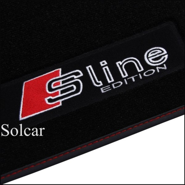 tapis de sol personnalis audi s line tapis sol auto velour audi s line a6 allroad. Black Bedroom Furniture Sets. Home Design Ideas