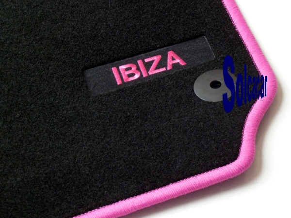 tapis auto personnalis seat sport tapis personnalis voiture ibiza 6l edition velour pink. Black Bedroom Furniture Sets. Home Design Ideas